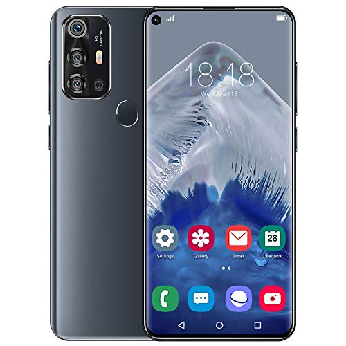 Smartphones Sss, V19 Pro Unlocked Mobile Phone (12GB+512GB) 7.2″ HD+ Full Screen phones, Dual SIM Free Cell Phones 5000mAh Large Capacity Battery, Face & Fingerprint ID, Android 10