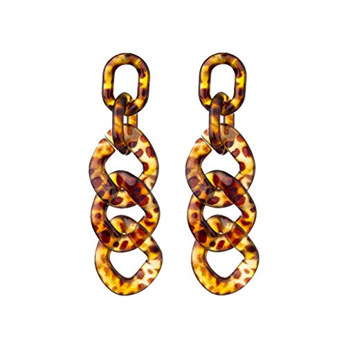 (HCDjgh Earings Dangles Set Punk Large Earrings For Women Sets Geometric Multilayer Nesting Earrings(A-Yellow) )