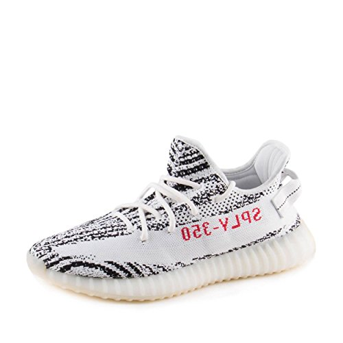 b21f4cece0d Galleon - Adidas Mens Yeezy Boost 350 V2 Zebra White Black-Red Fabric Size 8