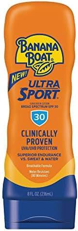 Banana Boat Ultra Sport Sunscreen Lotion, New Formula, SPF 30, 8 Ounces