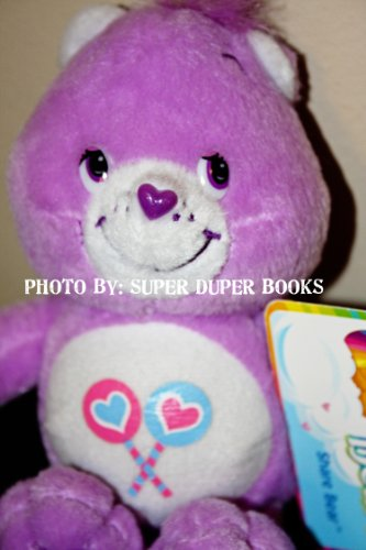 Care Bear Share Bear Purple with Lolli Pops on Tummy Stuffed Character Toy