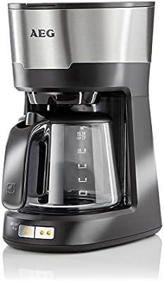 AEG KF5300 - Cafetera (Independiente, Negro, Acero inoxidable, De café molido, 1,25L, Totalmente automática, 1m): Amazon.es: Hogar