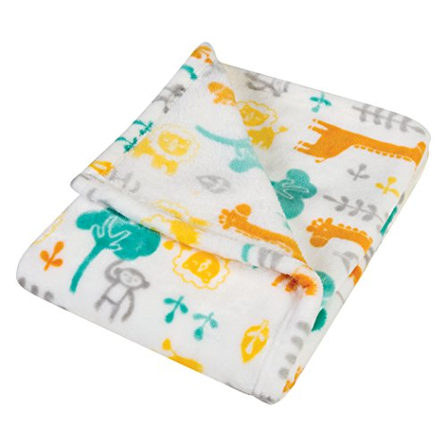 Trend Lab Plush Baby Blanket, Yellow Lullaby ()