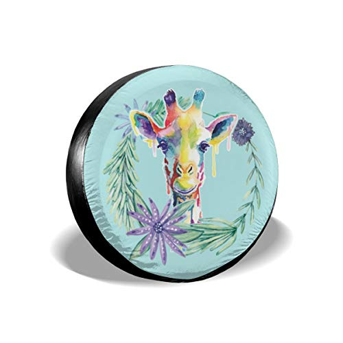 Negi Wreath Color Giraffe Universal Spare Tire Cover Dust-Proof 14