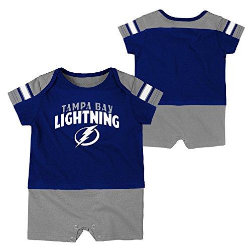 NHL Tampa Bay Lightning Boys Newborn & Infant 'Little Brawler' Jersey Romper, Dark Blue, 0-3 Months
