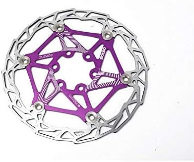 ロードバイクディスク 超軽量カラーフローティングディッシュマウンテンブレーキディスク160mm (色 : Purple 160MM)