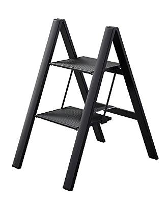 Slim Step 2 Step Black Design Stepstools Stepladder By Hasegawa Ladders