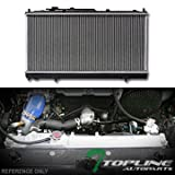 Topline Autopart Aluminum Core Replacement Radiator Cooler For AT Automatic MT Manual Transmission For 2000 Mitsubishi Eclipse 3.0L V6 Engine DPI 2405