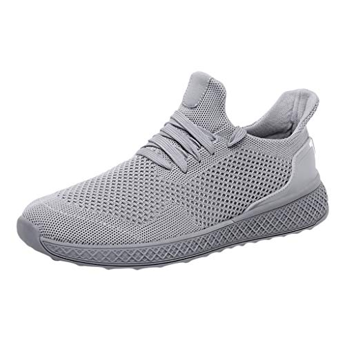 JUSTWIN Men Casual Sneakers Shoes Breathable Lace Up Mesh Lightweight Men's Sports Student Leisure Running Sneaker -