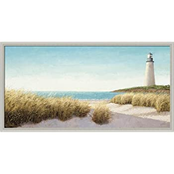 this item lighthouse by the sea by james wiens coastal beach scene framed art print picture wall dcor
