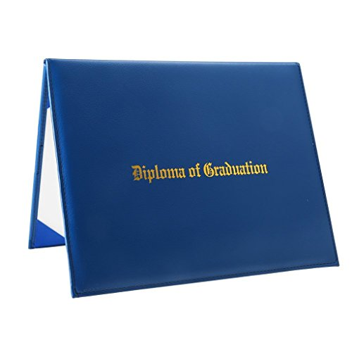 GraduationRoyal Certificate Cover,8.5 x 11 Inches Letter Size,Protective Film (Royal Blue, Gold Foil Embossed) by GraduationRoyal