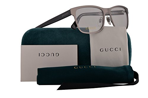Gucci GG0317O Eyeglasses 56-17-145 Ruthenium Black w/Demo Cl