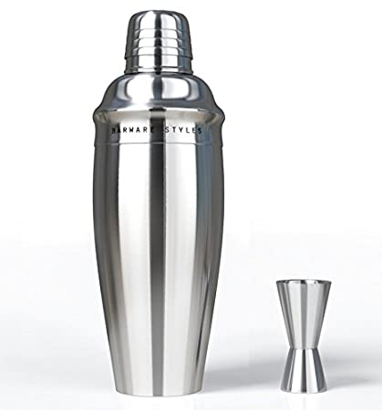 Barware Styles Classic And Elegant Stainless Steel 3 Piece Martini And  Cocktail Shaker Set