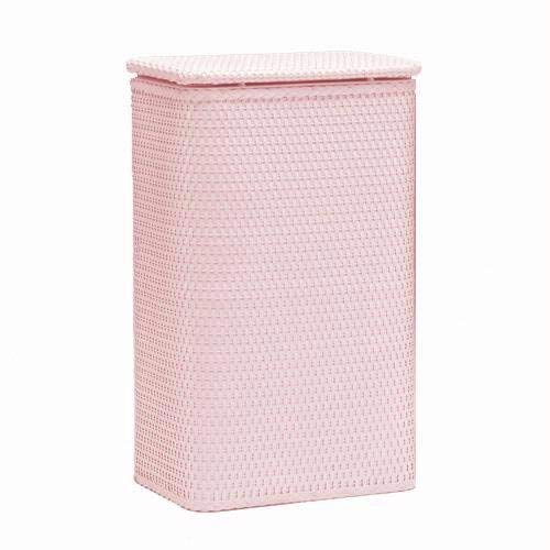 Redmon Chelsea Collection Apartment Hamper, Crystal - Clothes Pink Hamper