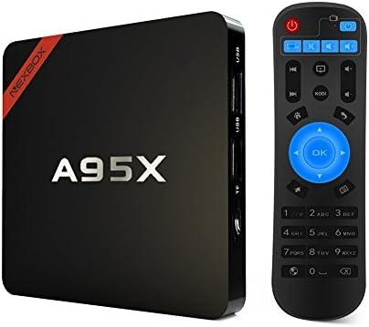 Tsing LESHP - Smart Box TV A95 x Android 5.1 Amlogic S905, Quad Cortex-A53 Streaming Media Player 1 GB DDR3 8 GB CMEM, con 2 puertos USB (conexión disco duro externo), lector