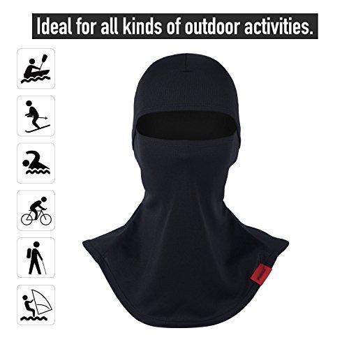Balaclava Full Face Mask Motorcycle Helmet Liner Breathable Multipurpose Outdoor Sports Wind Proof Dust Head Hood by Qinglonglin (Image #2)