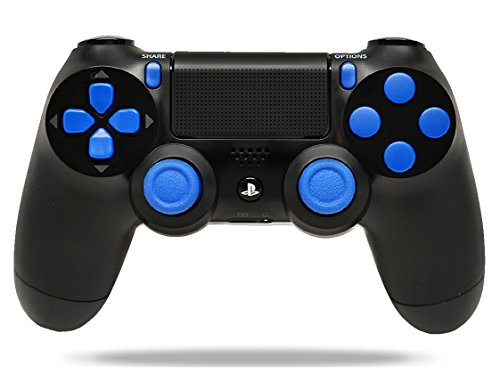 Black/Blue PS4 Playstation 4 Rapid Fire Modded Controller for COD Black Ops 3, AW, Ghosts, Destiny, Battlefield: Quick Scope, Drop Shot, Auto Run, Sniped Breath, Mimic, More (Modded Call Of Duty Black Ops)