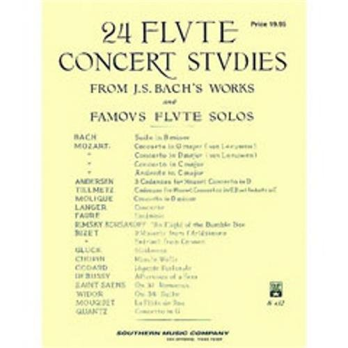 Southern Music Bach 24 Flute Concert Studies