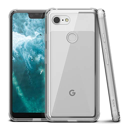 Google Pixel 3 XL Case, VRS Design [Transparent] Clear Heavy Duty Protection [Crystal Chrome] Anti-Yellowing Acryl Back TPU Bumper for Google Pixel 3 XL (2018)
