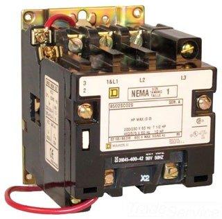 NEMA Contactor, 120VAC, 27A, Size1, 3P, Open