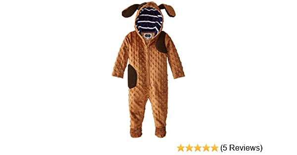 Mud Pie Minky Hooded Puppy One Piece 0-6 Months Cute Shower Gift!