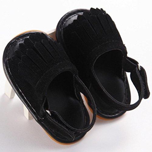 Culater? Ragazza del bambino Presepe Fiore morbida suola antiscivolo doposci sandali Scarpe (2, arancia)