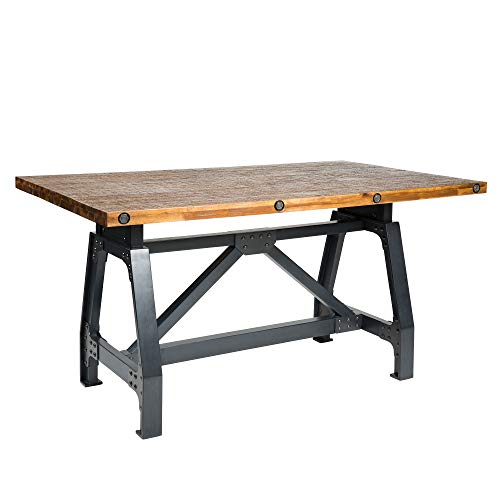 INK IVY Lancaster Dining Gathering Table, Amber