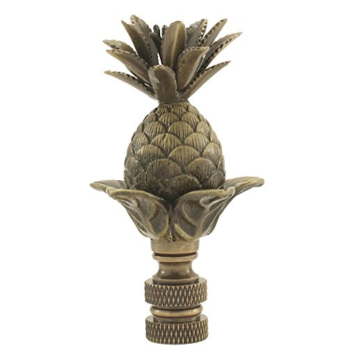 Antique Brass Pineapple Finial Lamp Shade Topper Pine Apple Character Vintage Look Gold Antique Brass Pineapple Finial
