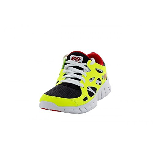 NIKE Free Run 2 (GS) Running Trainers 443742 Sneakers Shoes (US 6.5Y, Black Gym Red Volt 067)