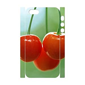 3D Bumper Plastic Customized Case Of Cherry for iPhone 5,5S