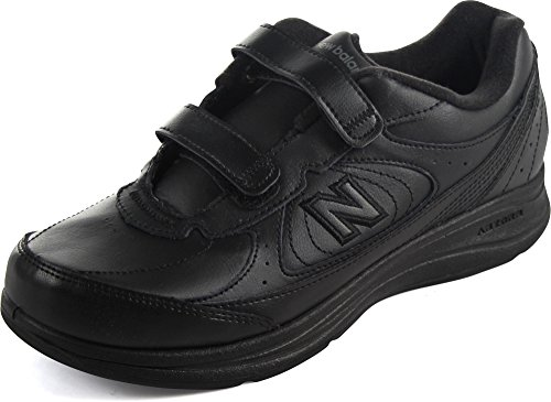 New Balance Women's WW577 Velcro Velcro Hook and Loop Oxford - 5.5 E2 - Black ()