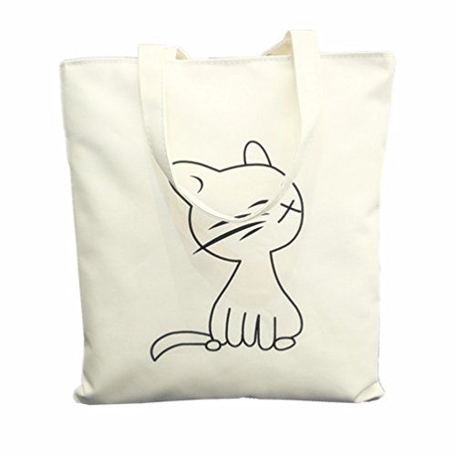 Cat Canvas Tote