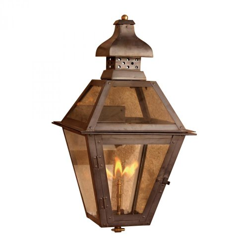Elk 7917-WP Bayou Outdoor Wall Sconce with Natural Gas Flame, Aged Copper