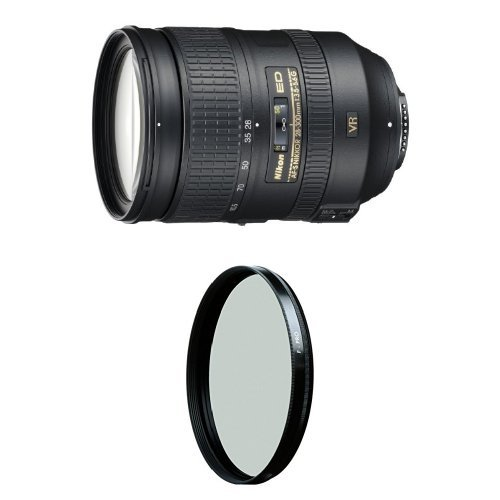 Nikon 28-300mm f/3.5-5.6G ED VR Auto Focus-S Nikkor Zoom Lens for Nikon Digital SLR w/ B+W 77mm HTC Kaesemann Circular Polarizer