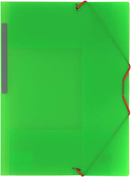 Grafoplás 04801221-Carpeta de Polipropileno con gomas y 3 solapas, color Verde, tamaño Folio: Amazon.es: Oficina y papelería