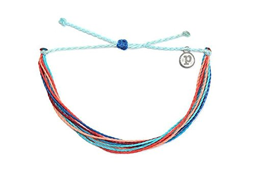Pura Vida Riptide Bracelet - Iron-Coated Copper Charm, Adjustable Band - 100% Waterproof