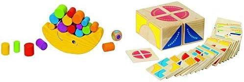 GOKI- Juegos de hábil idad Luna de Equilibrio, Basic, Multicolor (56711) + Juego de Puzzle, Kubus, Multicolor (Gollnest & Kiesel 58649.0)