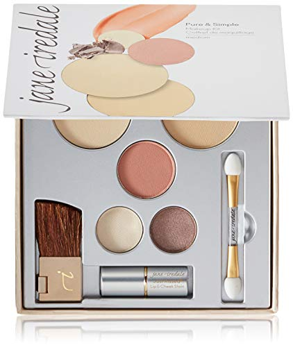 jane iredale Pure & Simple Makeup Kit   4 Essentials to Complete the Look   Includes Mineral Foundation, Blush, Eye…