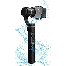 FeiyuTech G5 3-Axis Handheld Gimbal, Adaptable for HERO5 HERO4 SJCam Sports Cams, IP67 Waterproof, Anti-loss Screws, Selfie Ready, (Certified Refurbished)