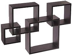 Greenco Decorative 4 Cube Intersecting W...