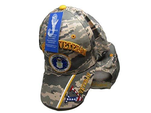 - K's Novelties US Air Force Veteran V Camouflage Camo Digital Embroidered Cap Hat CAP593BC