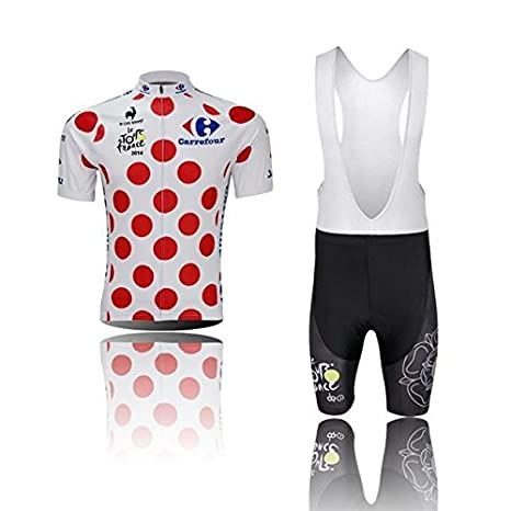 Amazon.com: Meet Here 2014 NEW CARREFOUR Cycling Jersey Set ...