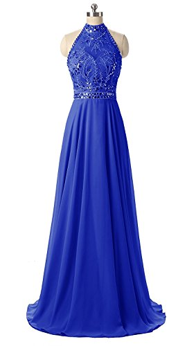 Sequins Halter Prom Formal Dress - 5