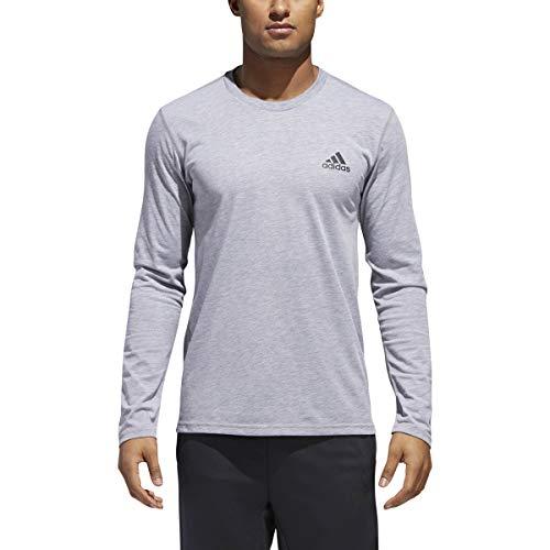adidas Mens Training Ultimate Long Sleeve Tee, Medium Grey Heather, Medium
