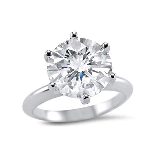 d5f22e6135c32 3 Carat 9mm round Forever ONE moissanite solitaire engagement ring 14k  white gold 6 prong