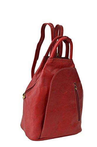 Katana - Bolso mochila  de Piel para mujer rojo rojo