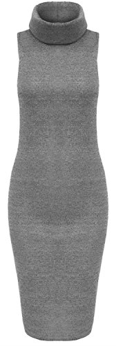 Midi Womens New Neck Color Grey Polo Click Wear Selfie Knit Dress qPOHwcW8