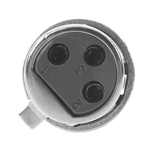 SODIAL(R) Adaptador Cable Patch XLR a Hembra 6.3mm Microfono