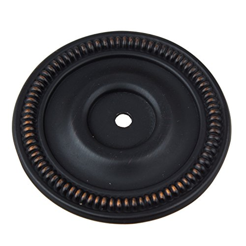 GlideRite Hardware 5060-ORB-10 2.5 inch Round Oil Rubbed Bronze Cabinet Back Plate 10 Pack ()