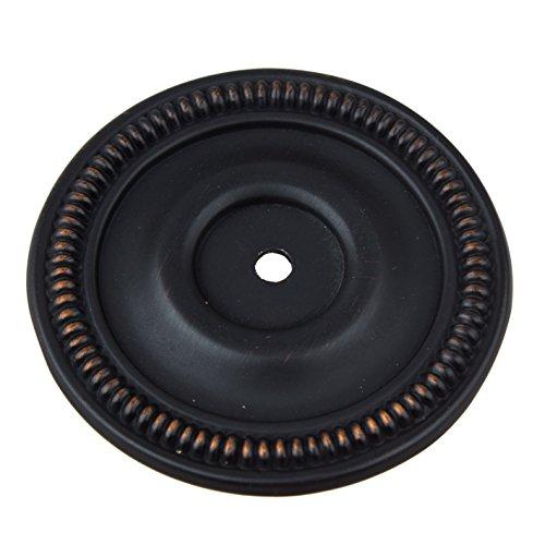 GlideRite Hardware 2-1/2-inch Diameter Oil Rubbed Bronze Round Back Plates (Pack of 10) by GlideRite Hardware